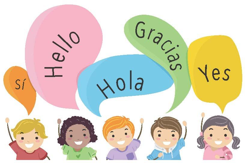 Children speaking english and spanish