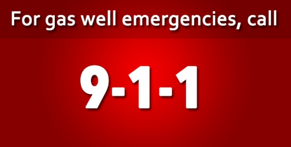 Gas Well Emergencies call 911 image