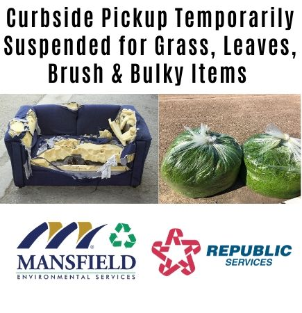 Grass, Leaves and Brush Curbside Pickup Postponed