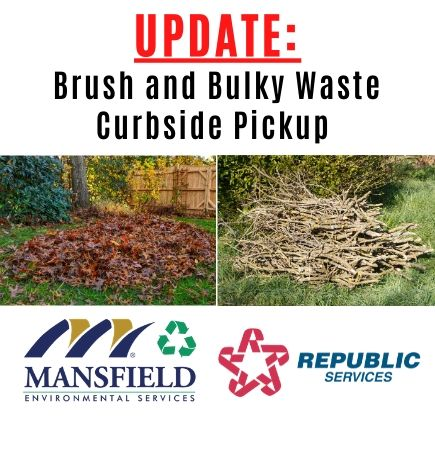 UPDATE brush and bulky waste pickup_COVID-19