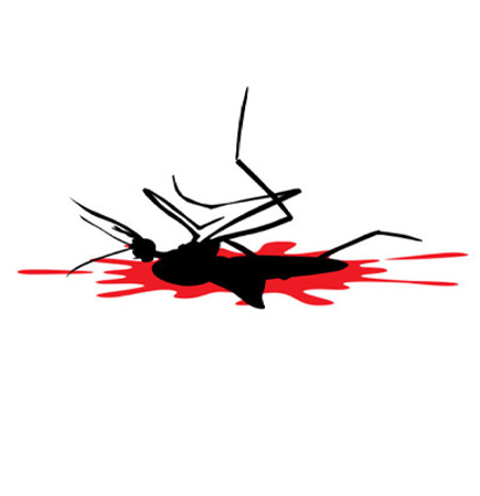 cartoon picture of a dead mosquito
