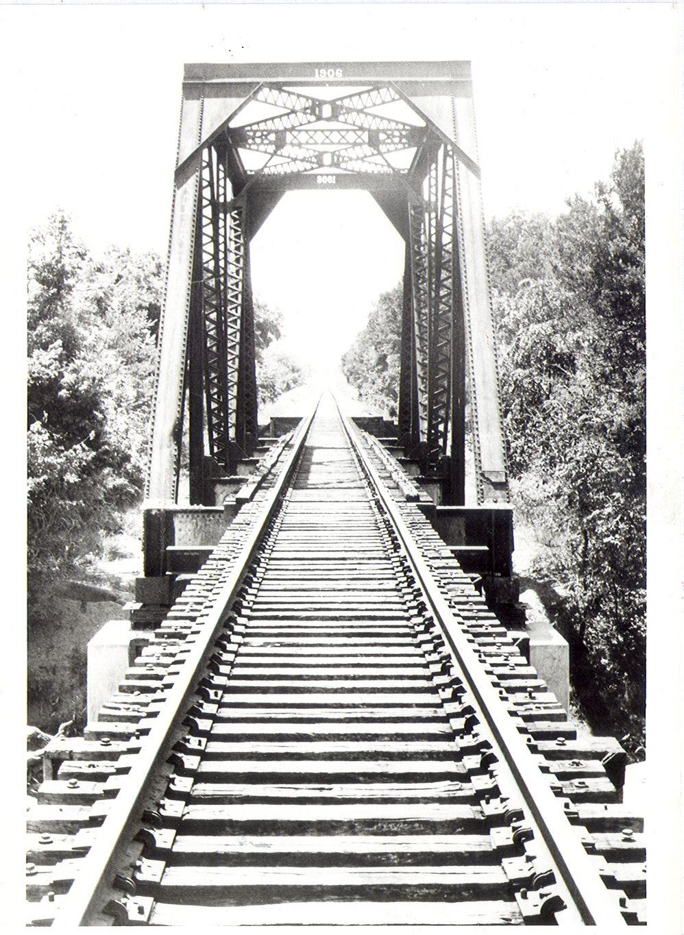Railroad Bridge Under Construction Over Walnut Creek