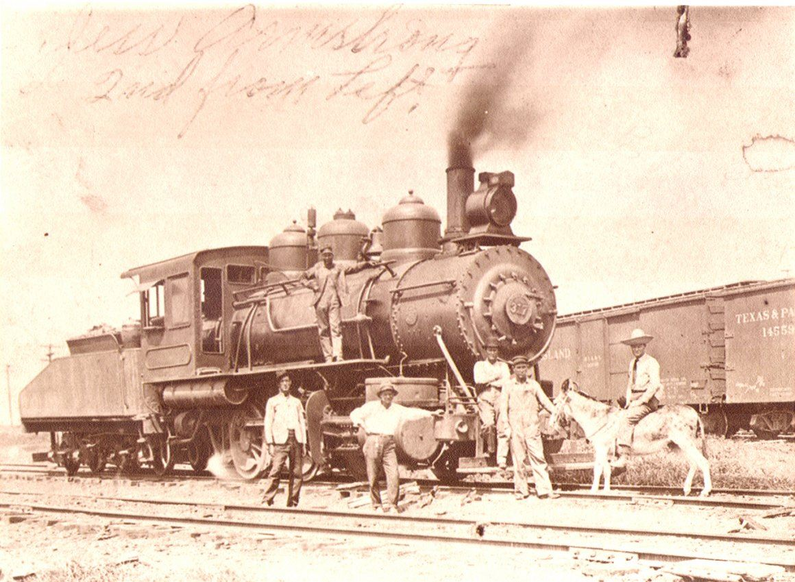 Train Locomotive with Men