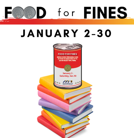 Food for fines jan. 2-30 with cans