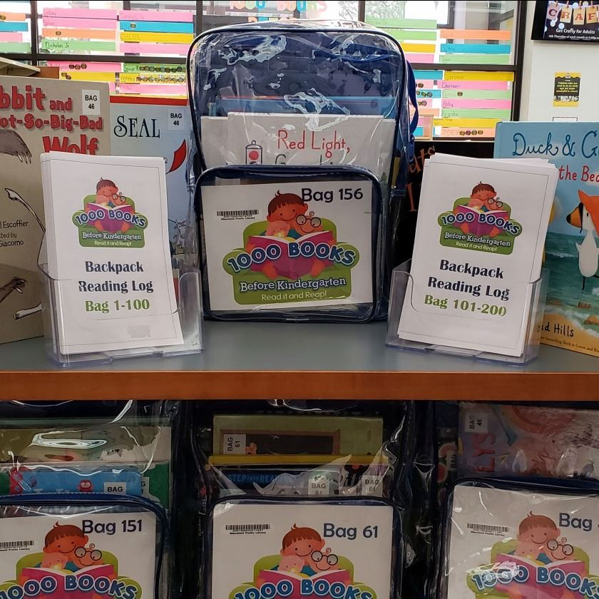 1,000 Books Before Kindergarten backpack