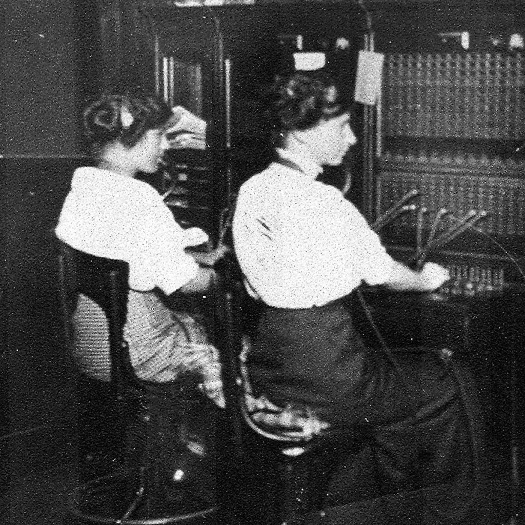 Operators at the Mansfield Switchboard