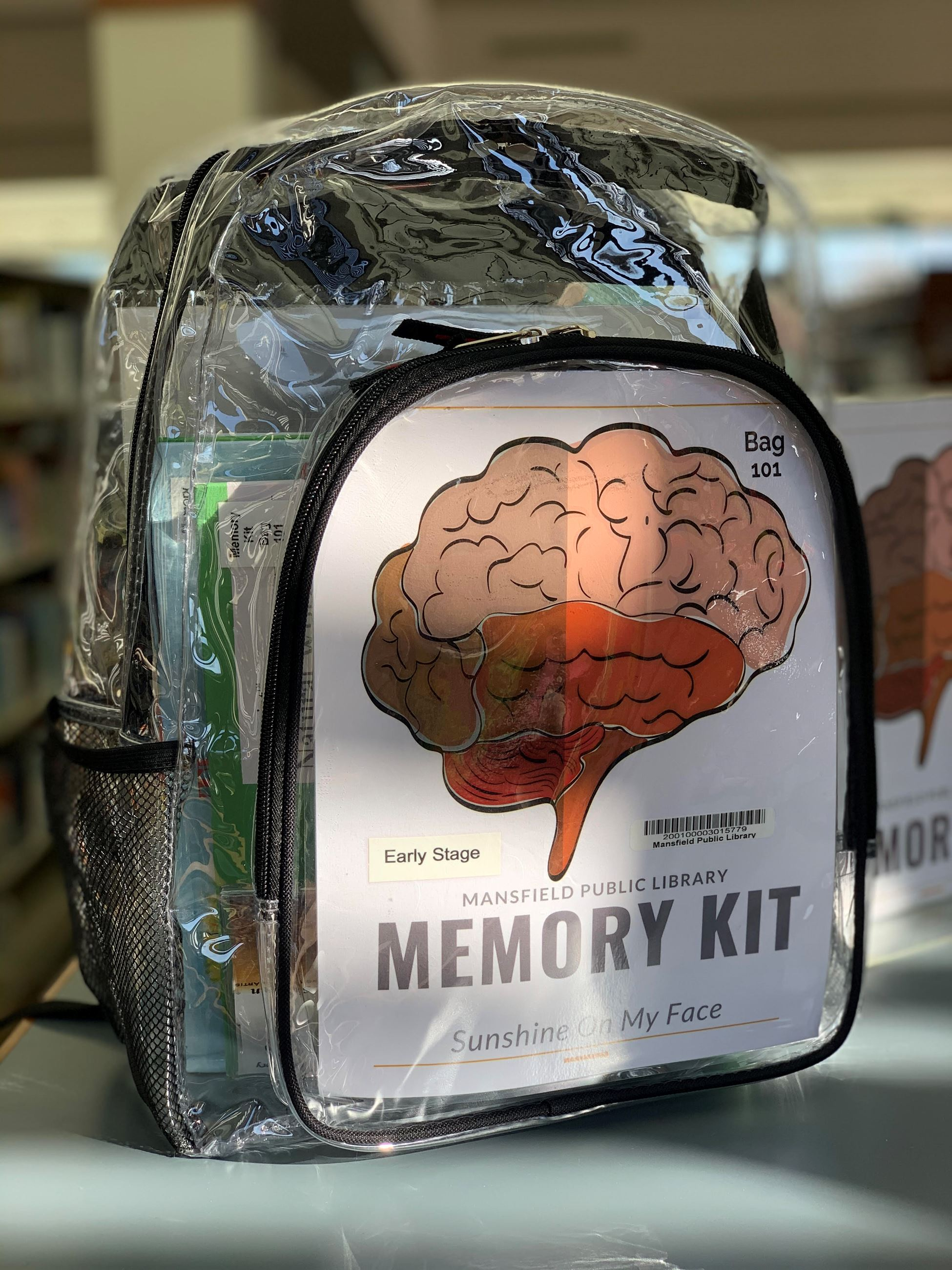 memory kit in a backpack