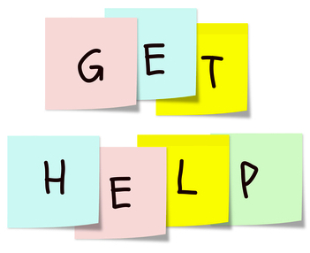 Get Help post-it notes