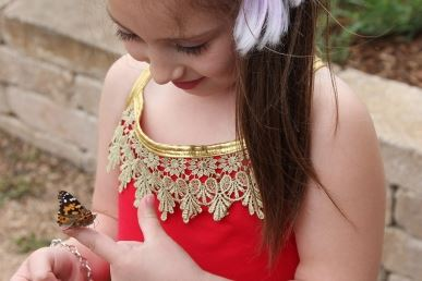Earth Day Girl with Butterfly