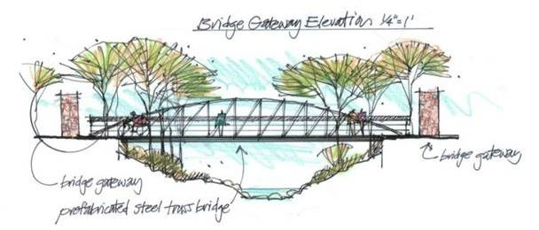 Pond Branch Bridge Rendering