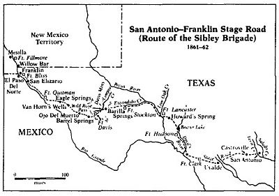 Sibleys Brigade Map