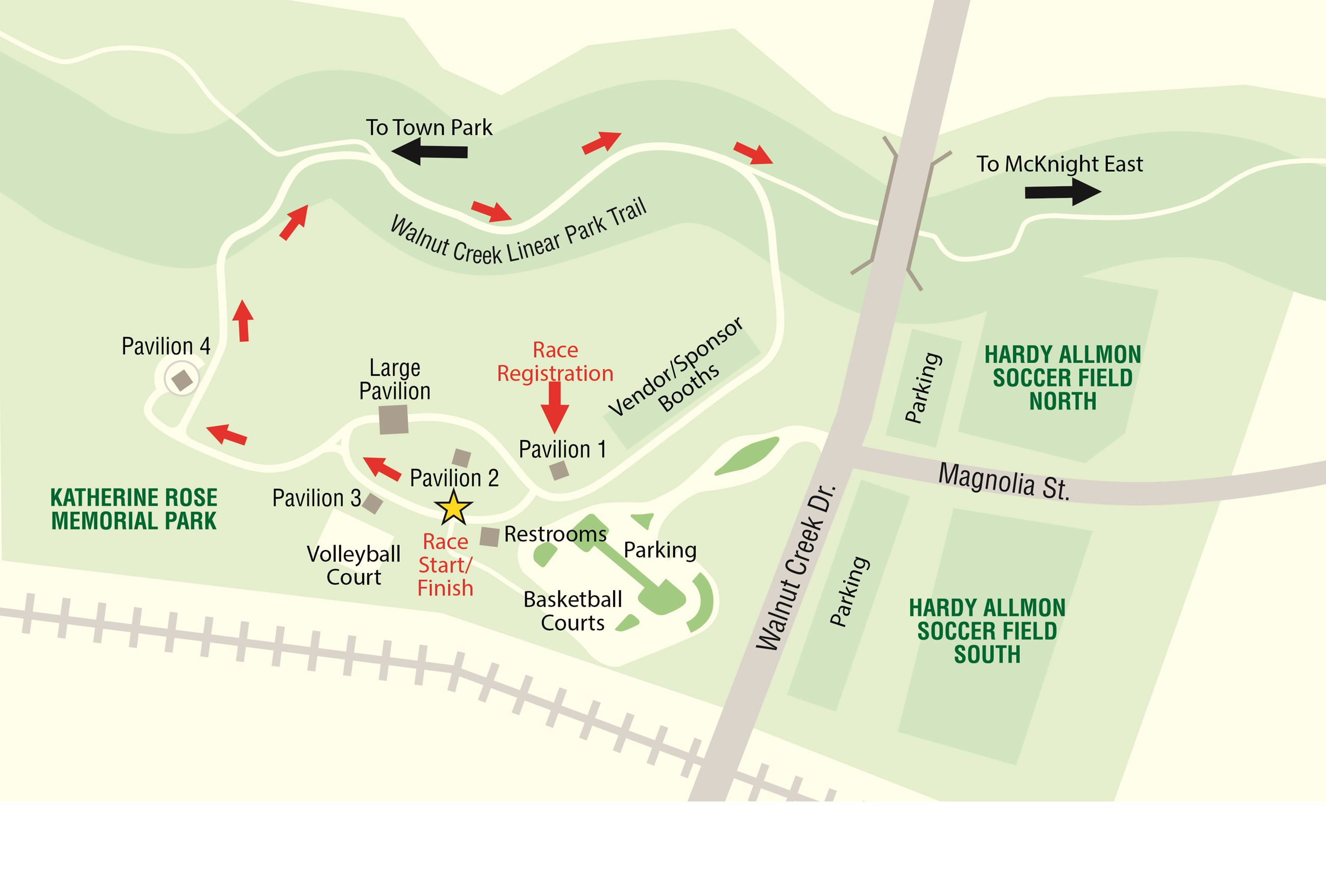 Katherine Rose Park - 5K Map